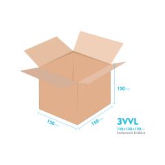 Kartónová krabica 3VVL - 150x150x100mm - vnútorné 145x145x140mm