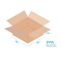 Kartónová krabica 3VVL - 200x200x100mm - vnútorné 195x195x90mm