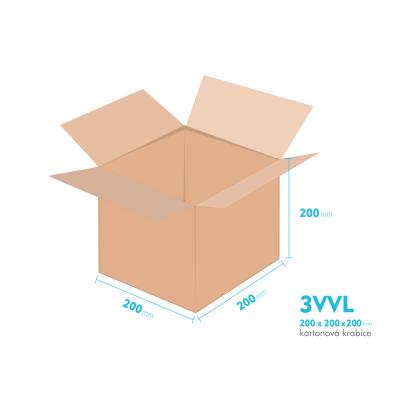 Kartónová krabica 3VVL - 200x200x200mm - vnútorné 195x195x190mm