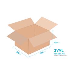 Kartónová krabica 3VVL - 250x200x150mm - vnútorné 245x195x140mm