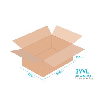 Kartónová krabica 3VVL - 310x220x150mm - vnútorné 305x215x140mm