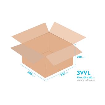 Kartónová krabica 3VVL - 350x300x200mm - vnútorné 345x295x190mm