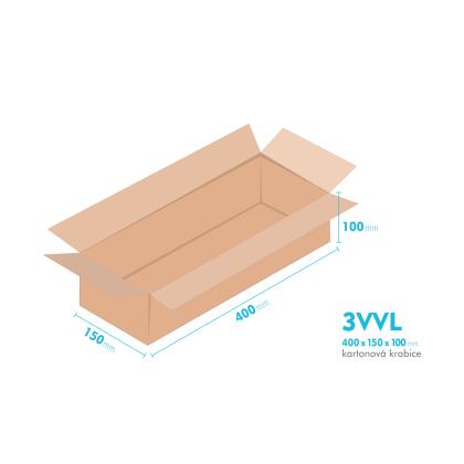 Kartónová krabica 3VVL - 400x150x100mm - vnútorné 395x145x90mm
