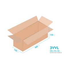 Kartónová krabica 3VVL - 400x150x150mm - vnútorné 395x145x140mm
