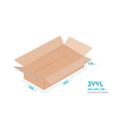 Kartónová krabica 3VVL - 400x200x100mm - vnútorné 395x195x90mm