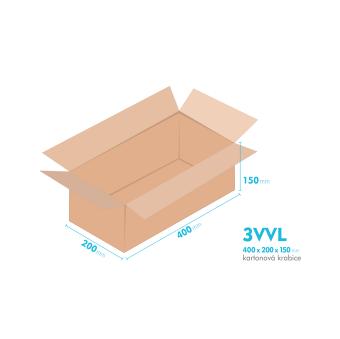 Kartónová krabica 3VVL - 400x200x150mm - vnútorné 395x195x140mm