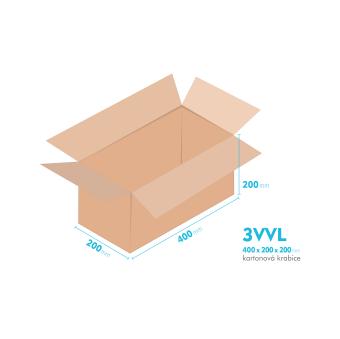 Kartónová krabica 3VVL - 400x200x200mm - vnútorné 395x195x190mm