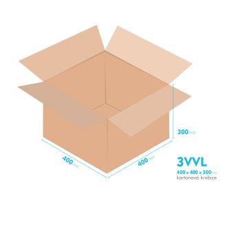 Kartónová krabica 3VVL - 400x400x300mm - vnútorné 395x395x290mm