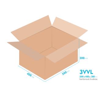 Kartónová krabica 3VVL - 500x400x300mm - vnútorné 495x395x290mm