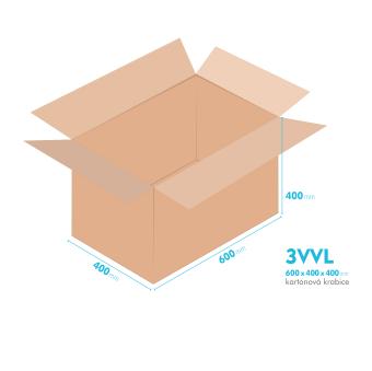 Kartónová krabica 3VVL - 600x400x400mm - vnútorné 595x395x390mm
