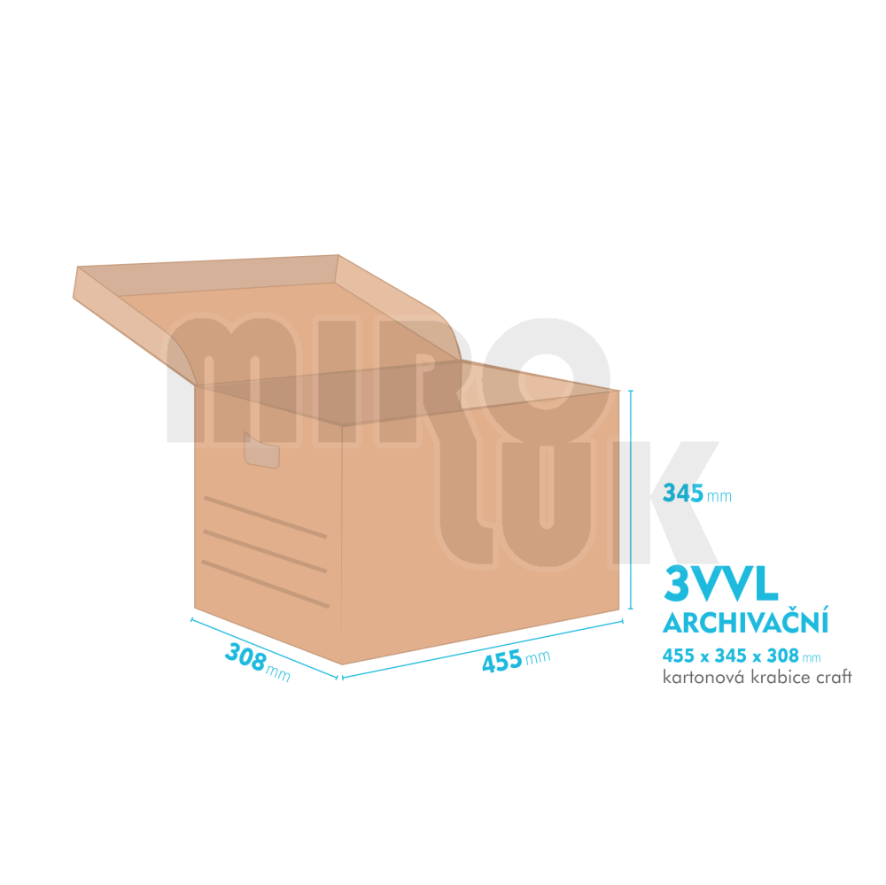 9b6957015 Archivačná krabica - 455x345x308mm   Miroluk