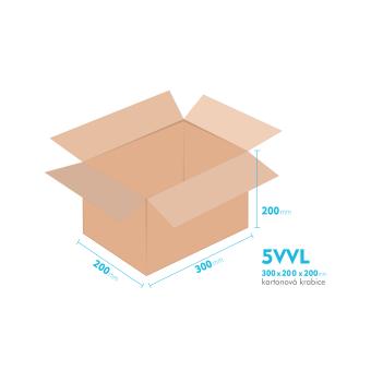 Kartónová krabica 5VVL - 300x200x200mm - vnútorné 294x194x188mm