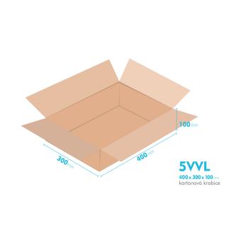 Kartónová krabica 5VVL - 400x300x100mm - vnútorné 394x294x88mm
