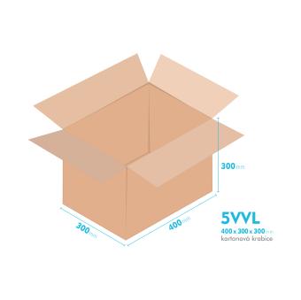 Kartónová krabica 5VVL - 400x300x300mm - vnútorné 394x294x288mm