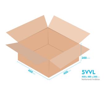 Kartónová krabica 5VVL - 400x400x200mm - vnútorné 394x394x188mm