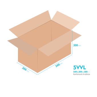 Kartónová krabica 5VVL - 500x300x300mm - vnútorné 494x294x288mm