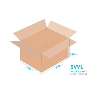 Kartónová krabica 5VVL - 500x400x300mm - vnútorné 494x394x288mm