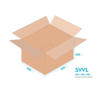Kartónová krabica 5VVL - 600x500x400mm - vnútorné 594x494x388mm
