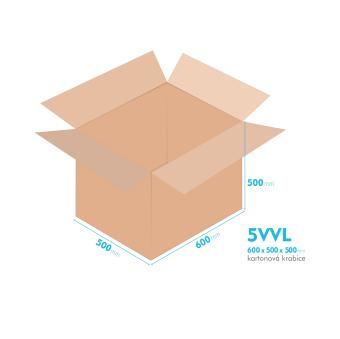 Kartónová krabica 5VVL - 600x500x500mm - vnútorné 594x494x488mm