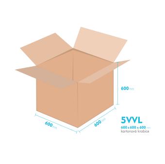 Kartónová krabica 5VVL - 600x600x600mm - vnútorné 594x594x588mm