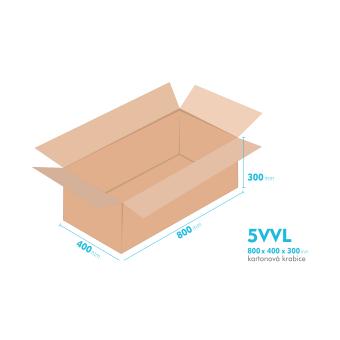 Kartónová krabica 5VVL - 800x400x300mm - vnútorné 794x394x288mm