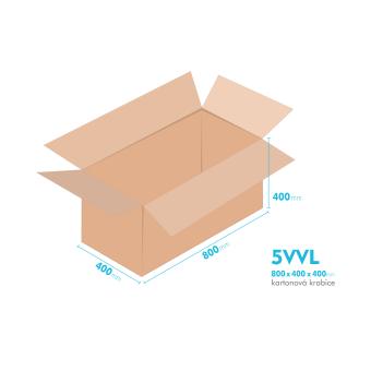 Kartónová krabica 5VVL - 800x400x400mm - vnútorné 794x394x388mm