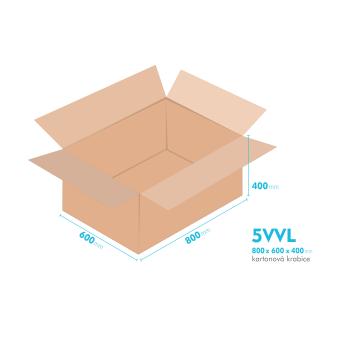 Kartónová krabica 5VVL - 800x600x400mm - vnútorné 794x594x388mm