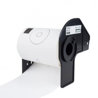 Kompatibilné etikety s Brother DK-11207, papierové biele, CD/DVD, priemer 58mm, 100ks