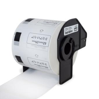 Kompatibilné etikety s Brother DK-11209, papierové biele, úzke adresy, 29 x 62mm, 800ks