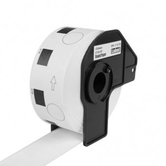 Kompatibilné etikety s Brother DK-11218, papierové biele, okrúhle, priemer 24mm, 1000ks