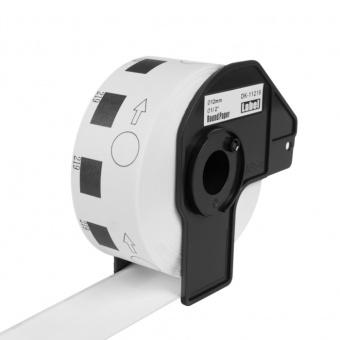 Kompatibilné etikety s Brother DK-11219, papierové biele, okrúhle, priemer 12mm, 1200ks
