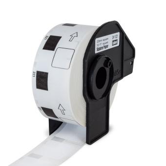Kompatibilné etikety s Brother DK-11221, papierové biele, štvorcové, 23 x 23mm, 1000ks