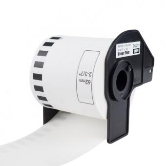 Kompatibilné etikety s Brother DK-22113, priesvitná filmová rola, 62mm x 15,24m