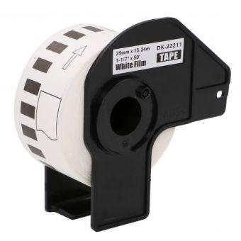 Kompatibilné etikety s Brother DK-22211, filmová rola, 29mm x 15,24m