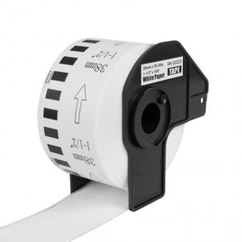 Kompatibilné etikety s Brother DK-22225, papierová rola 38mm x 30,48m