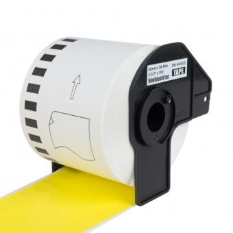 Kompatibilné etikety s Brother DK-44605, žltá papierová rola s odstrániteľným lepidlom, 62mm x 30,48m
