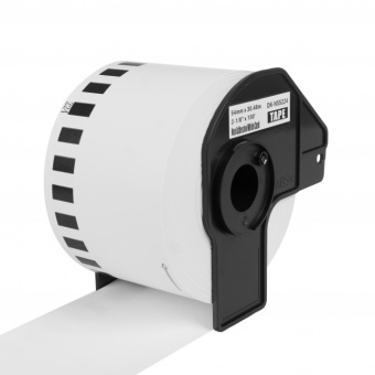 Kompatibilné etikety s Brother DK-N55224, papierová rola, nelepiace, 54mm x 30,48m