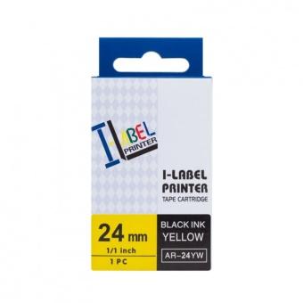 Kompatibilná páska s Casio XR-24YW1, 24mm, čierna tlač na žltom podklade