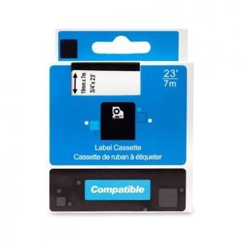 Kompatibilná páska s DYMO 45810 (S0720900), 19mm, biela tlač na priesvitnom podklade