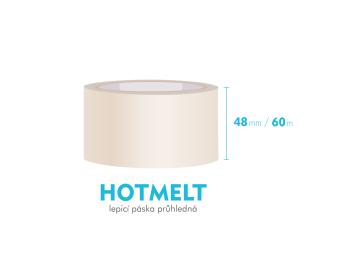 Lepiaca páska, priehľadná - HOTMELT - 48mm x 60m