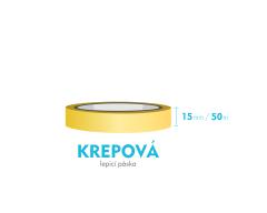 Lepiaca páska krepová - 15mm x 50m