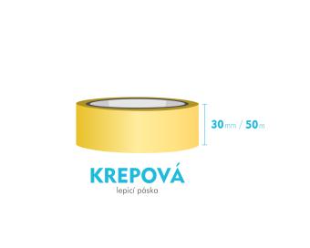 Lepiaca páska krepová - 30mm x 50m
