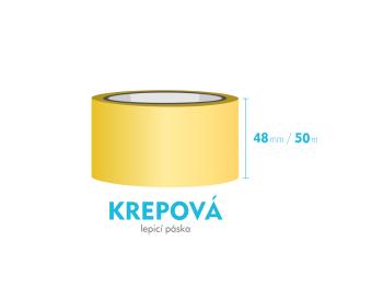 Lepiaca páska krepová - 48mm x 50m