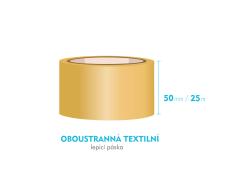 Lepiaca páska obojstranná - 50mm x 25m - textilné