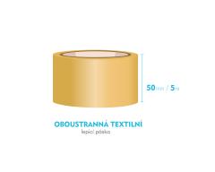 Lepiaca páska obojstranná - 50mm x 5m - textilné