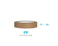 Lepiaca páska - 19mm x 66m - hnedá