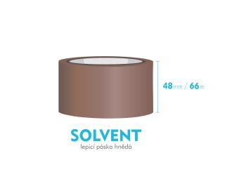 Lepiaca páska, hnedá - SOLVENT - 48mm x 66m
