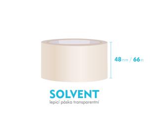 Lepiaca páska, priehľadná - SOLVENT - 48mm x 66m