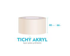 Lepiaca páska, priehľadná - TICHÝ AKRYL - 48mm x 66m