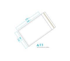 Biela bublinková obálka A/11 vnútorný rozmer 95x165 mm